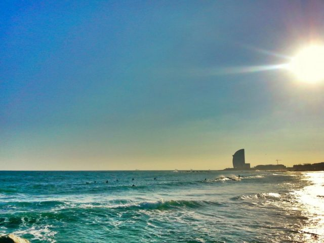 My Beloved Barcelona, from Barceloneta Beach
