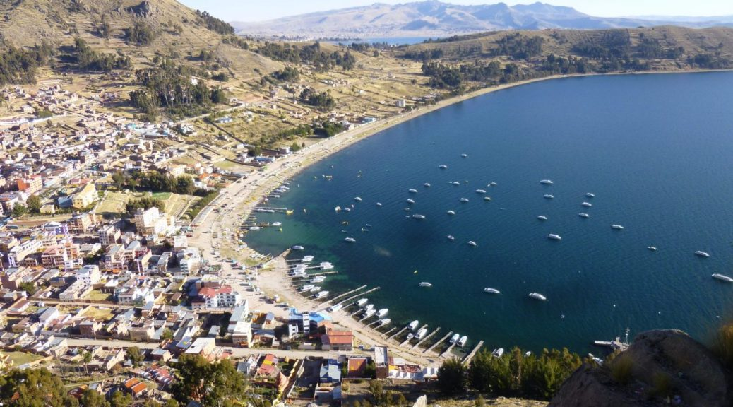 Pretty Copacabana on Lake Titicaca