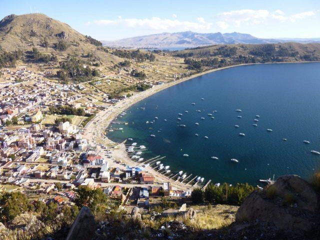Pretty Copacabana on Lake Titicaca