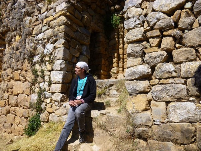 Our guide for Bolivia, Leo, explaining the ruins on Isla del Sol