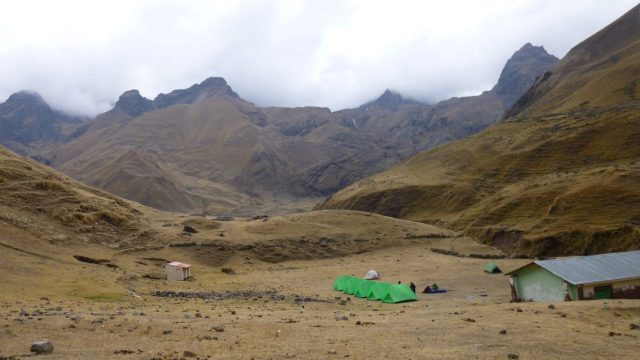 Camp on Day 3 of the Trek to Machu Picchu