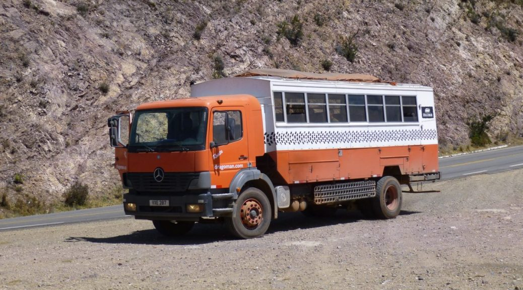 Our Dragoman Truck Rosita - Backpacking Tours in South America