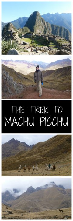 The trek to Machu Picchu