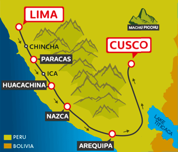 Peru Hop Route Cusco to Lima