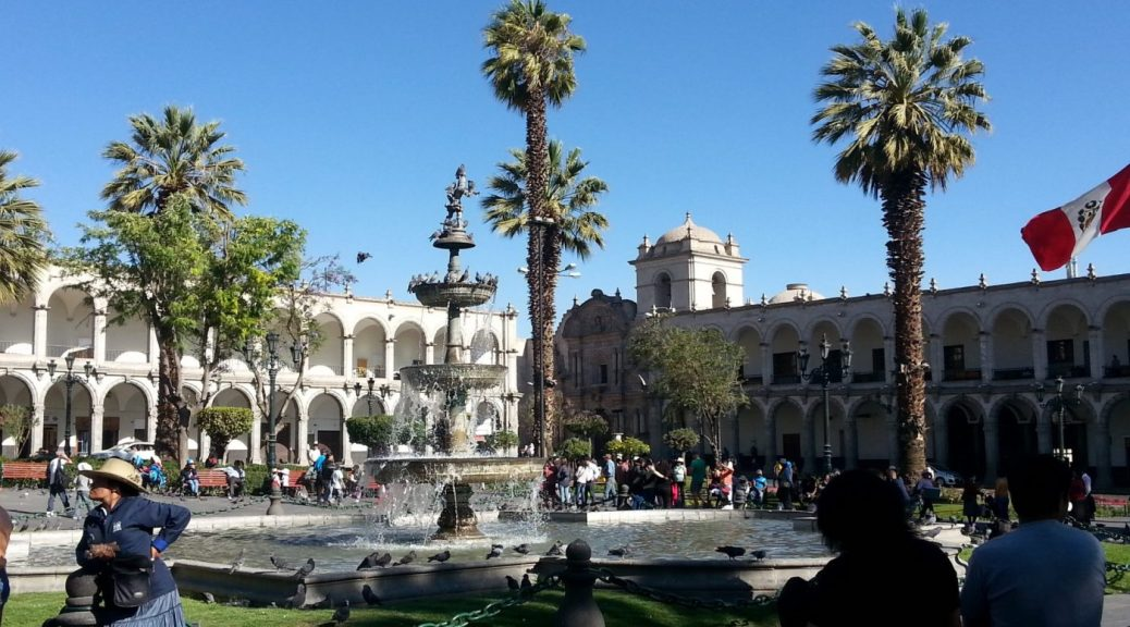 Arequipa is at a lower elevation than Cusco so is a good way to acclimatise to the altitude in Cusco