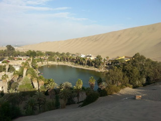 The Oasis in Huacachina Peru