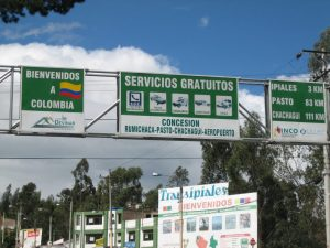 Entering Colombia with an Emergency Passport - the Border between Ecuador and Colombia