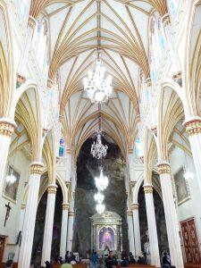 Inside El Santuario de las Lajas