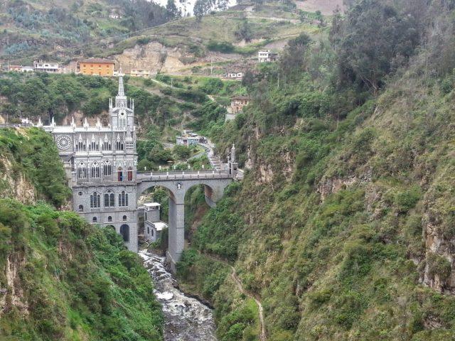 The View from the Cable Car at El Santuario de las Lajas