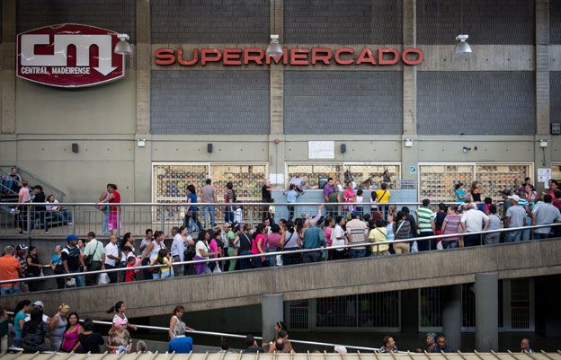 Is Venezuela Safe to Visit? Queuing in Caracas