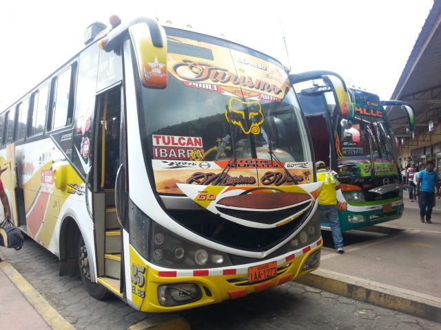 Travelling by Bus in South America - a bus in Ecuador