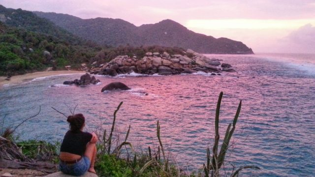 Sunset in Parque Tayrona National Park