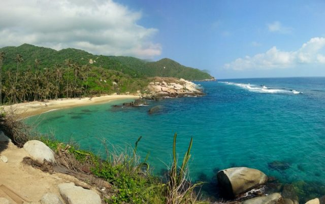 Beaches in Parque Nacional Tayrona National Park Colombia