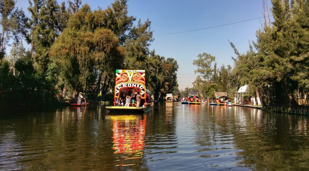 A Trajinera boat at Xochimilco - Awesome things to do in Mexico City