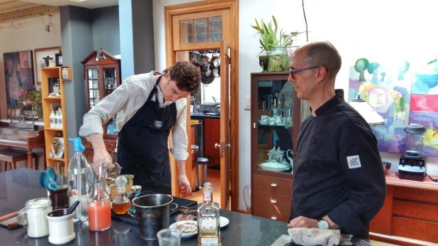 Cocktails Casa Jacaranda cooking class in Mexico City