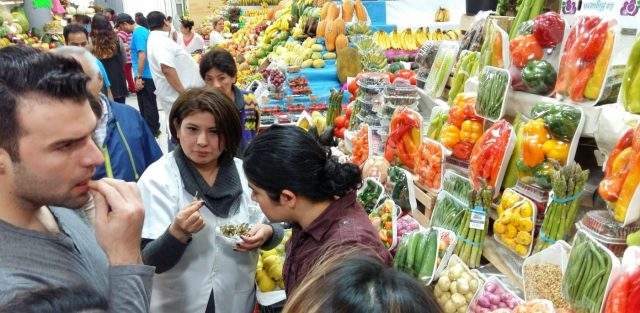 Pretty edible flowers on the best food tour in Mexico City Sabores Mexico Review