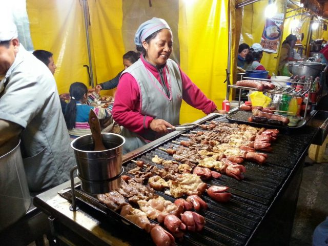 Street food is cheap and tasty!