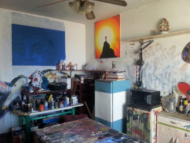 The artist's studio in Rocinha on our Favela Tour in Rio