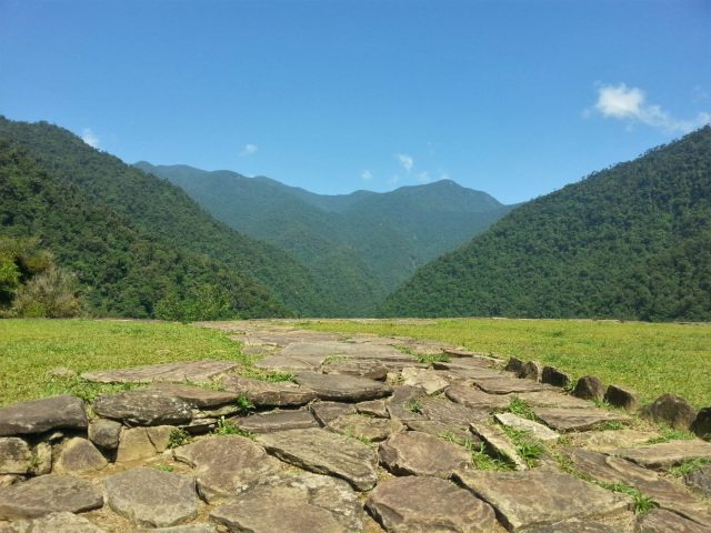 Beautiful views from La Ciudad Perdida, high in the Colombian jungle