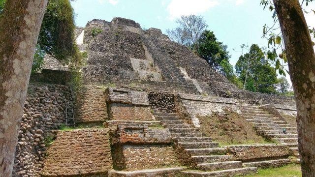 The High Temple at Lamanai Mayan Ruins in Belize