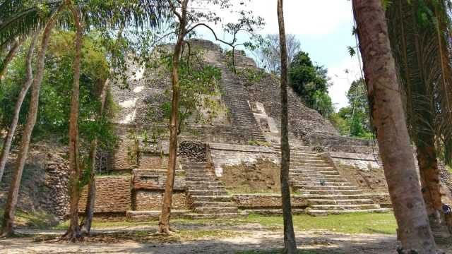 The High Temple at Lamanai Mayan Ruins in Belize