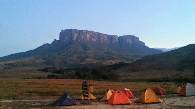 Our camp on the first night of the trek to Roraima in Venezuela Canaima National Park trek