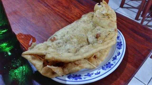 A Fry Jack - Belizean Street Food in Orange Walk Belize