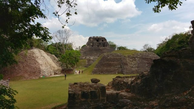 After the horseback ride to Xunantunich we explored the Maya site