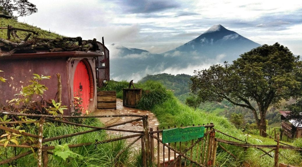 How to find the best Backpacker Accommodation Around the World - Hobbitenango in Antigua Guatemala