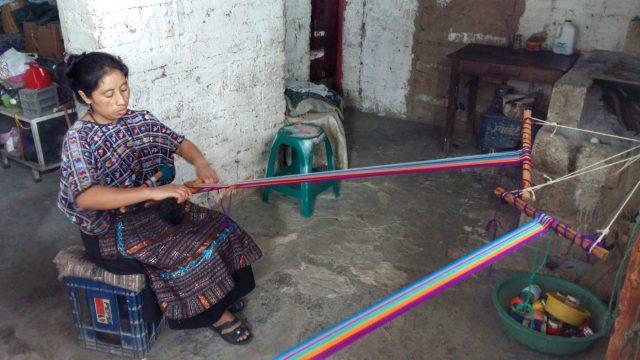 Backstrap Weaving class in Santa Cruz Lake Atitlan Guatemala