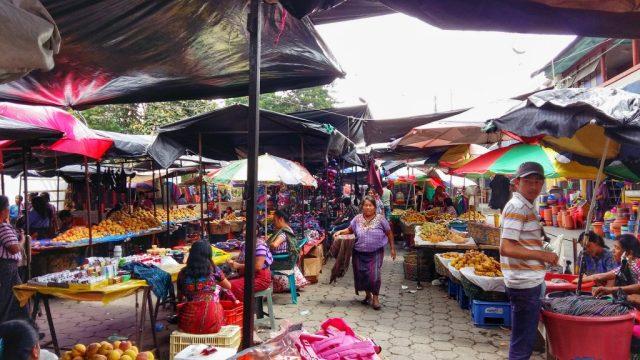 The Market in Santiago Lake Atitlan Guatemala