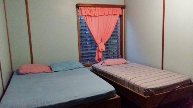 My bedroom at the Mango Inn Utila