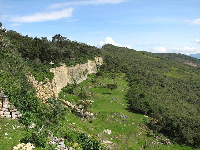 The wall around Kuelap Peru, near Chachapoyas