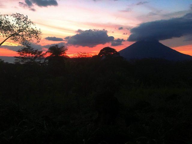 Ometepe Island Nicaragua at Sunset