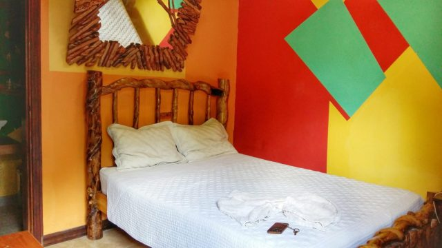 My bedroom at the Cuna Maya Hotel Copan Ruinas Honduras