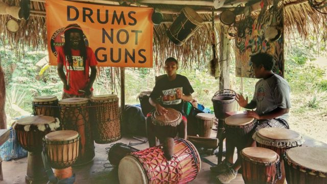 Taste Belize Food Tour - Maroon Creole Drumming School - Drums not Guns