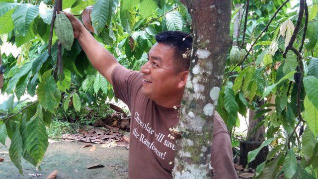 Taste Belize Food Tour - At Ixcacao Maya Chocolate Farm with owner Juan