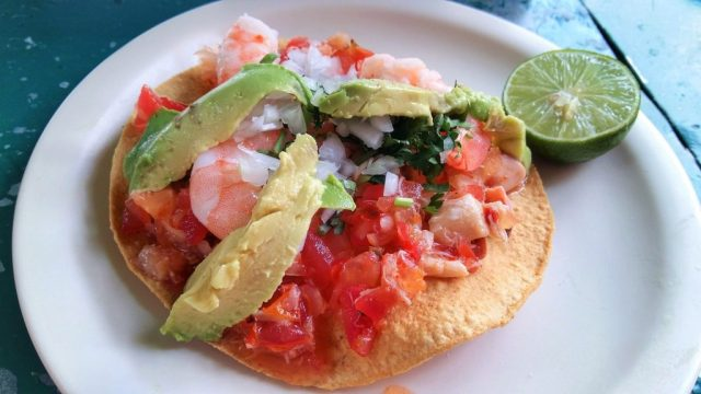 A Delicious Seafood Tostada - Awesome Street Food in Mexico City - Things to do in Mexico City