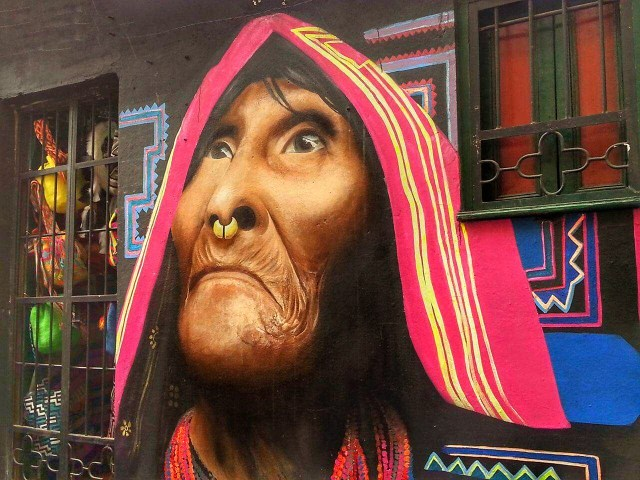 Street Art in Bogota Colombia - Backpacking South America Backpackers Guide to South America on a Budget