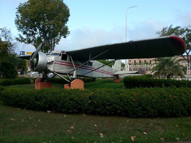 Jimmie Angel's Aeroplane outside the airport in Ciudad Bolivar Venezuela