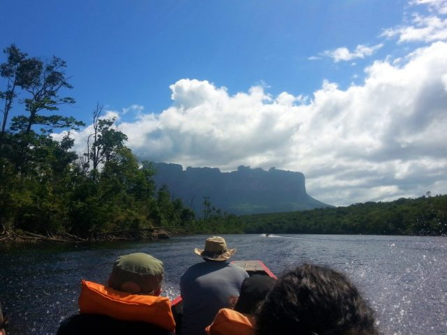 The boat journey to Angel Falls Venezuela
