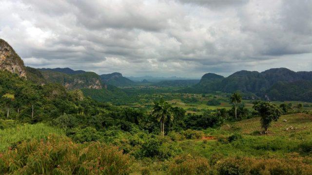 The View from near Los Aquaticos in Vinales Cuba