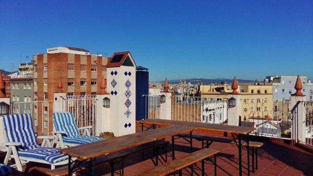 Gorgeous sunny terrace at NORN Barcelona - Perfect for working, socializing, or chilling out!
