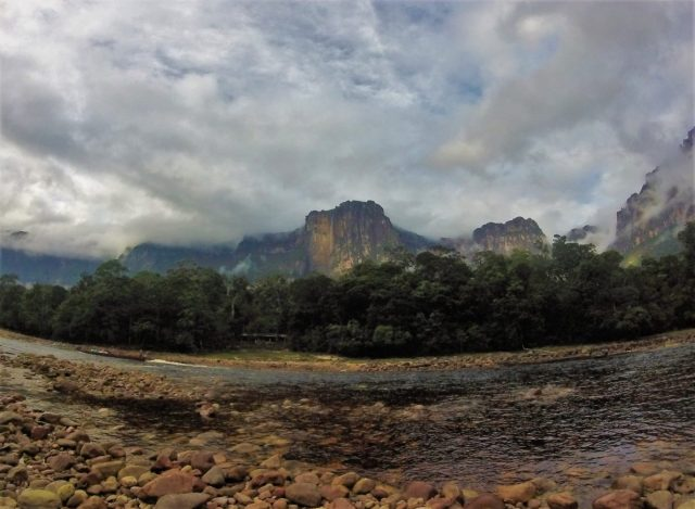 Angel Falls from our camp across the river