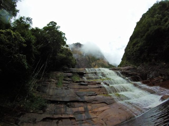 The pool at the base of Angel Falls