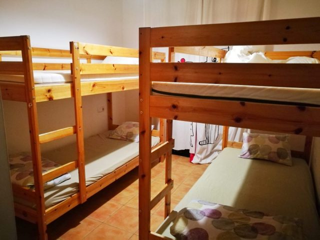 One of the 4-bed dorm rooms at Planet Surf Camp Fuerteventura