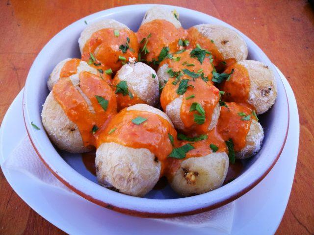 Papas Arrugadas (Wrinkly Potatoes) a Typical dish in Fuerteventura