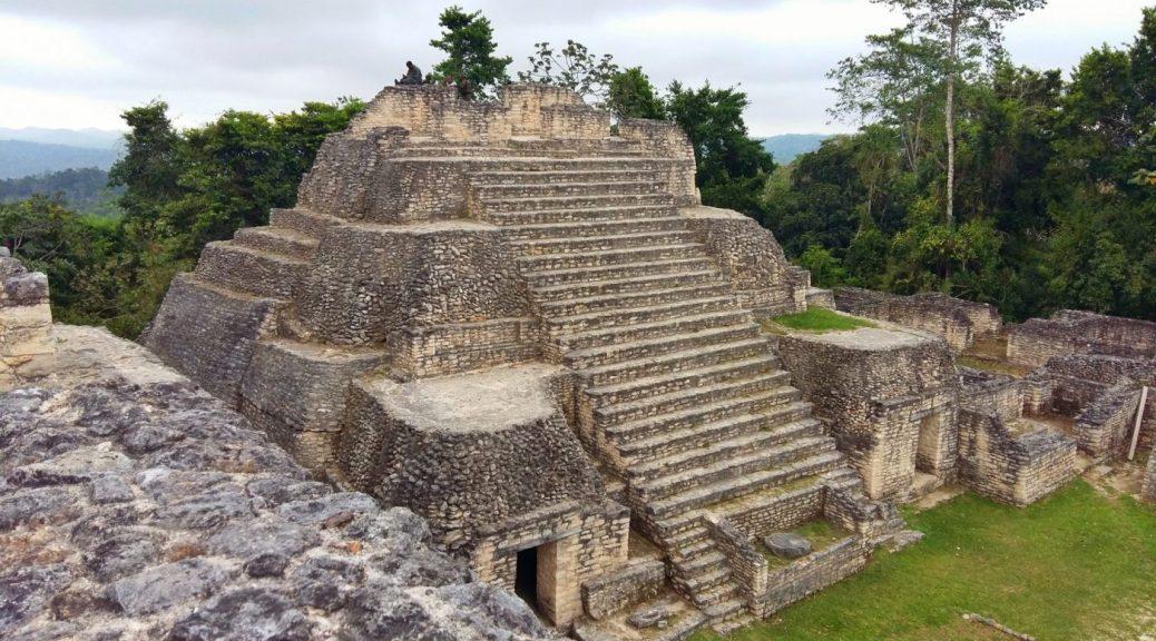 Caracol Maya Ruins in the Mountain Pine Ridge Reserve near San Ignacio Belize