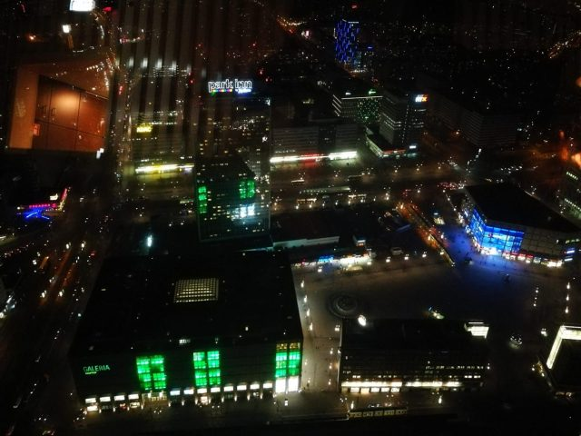 A Night view from the Berlin TV Tower Restaurant