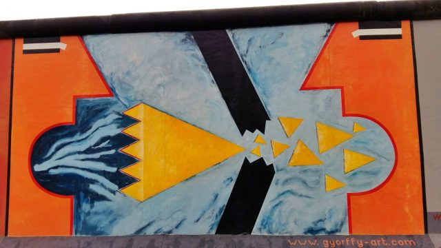 Visiting the Berlin Wall - Part of the East Side Gallery - The Wall Finally Fell